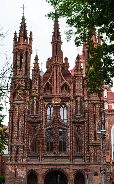 Photo 2. St. Anne's Church is a Roman Catholic Church in Vilnius' Old Town