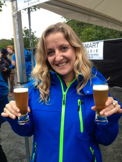 Photo 3. Enjoying a few craft beers at the Bergen Ølfestival