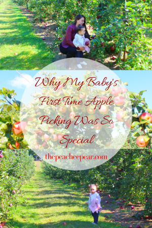 We went apple picking with the baby for the first time this week. I share how this activity out some prespective and why it was so special.