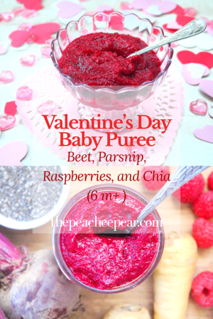 We're getting closer to Valentine's Day and today I am brining you a baby puree recipe for your baby to celebrate along with your family on this special day! This homemade baby food is healthy, nutritious and tasty for babies. It's bright red color and sweetness makes it the perfect puree for your baby to celebrate Valentine's Day.