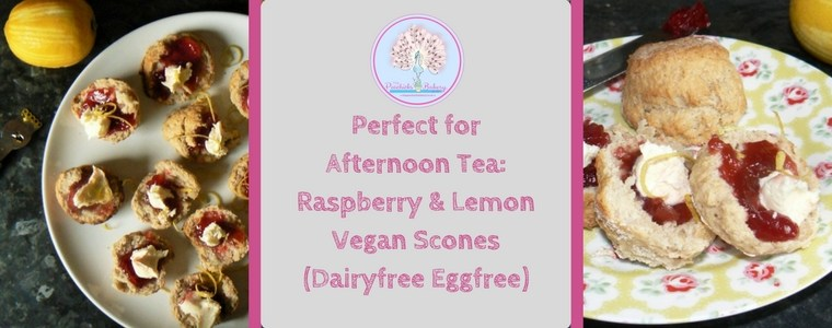 Raspberry & Lemon Vegan Scones (Dairyfree Eggfree)