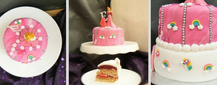 Ginger Peachick's Sleeping Beauty Birthday Cake – Easy Vegan Layered Angel Cake