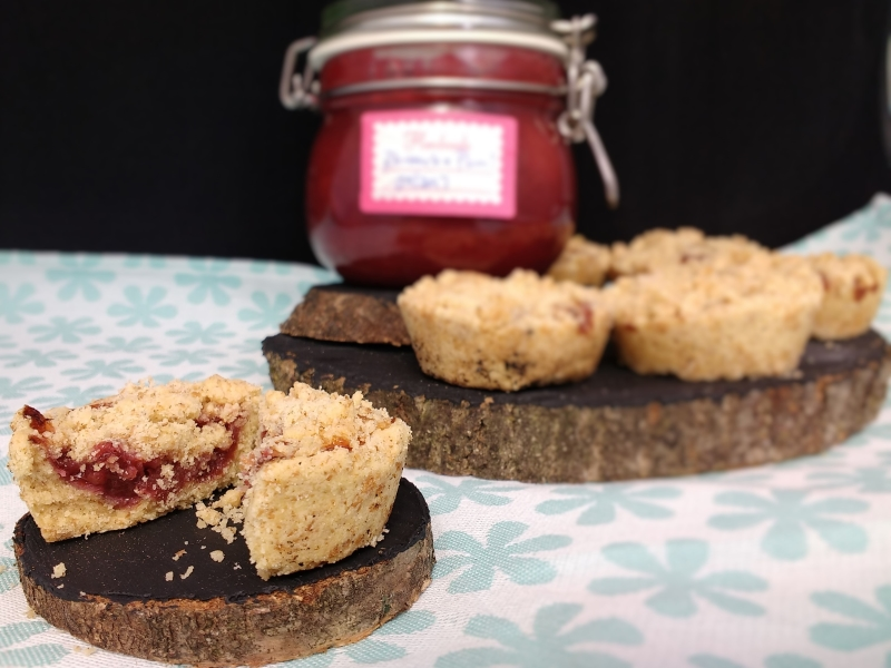 Looking for a littleafternoon treat with your tea or coffee? Then Millie's Jammy Shortbread Crumble Cups (Dairyfree, Vegan) with rich shortbread and jammy layer are perfect! And handily were a great way to use up the rhubarb & plum jam I had no jar left for! They are also a great easy activity to keep the little people entertained in the great British Summer Weather we are having!!