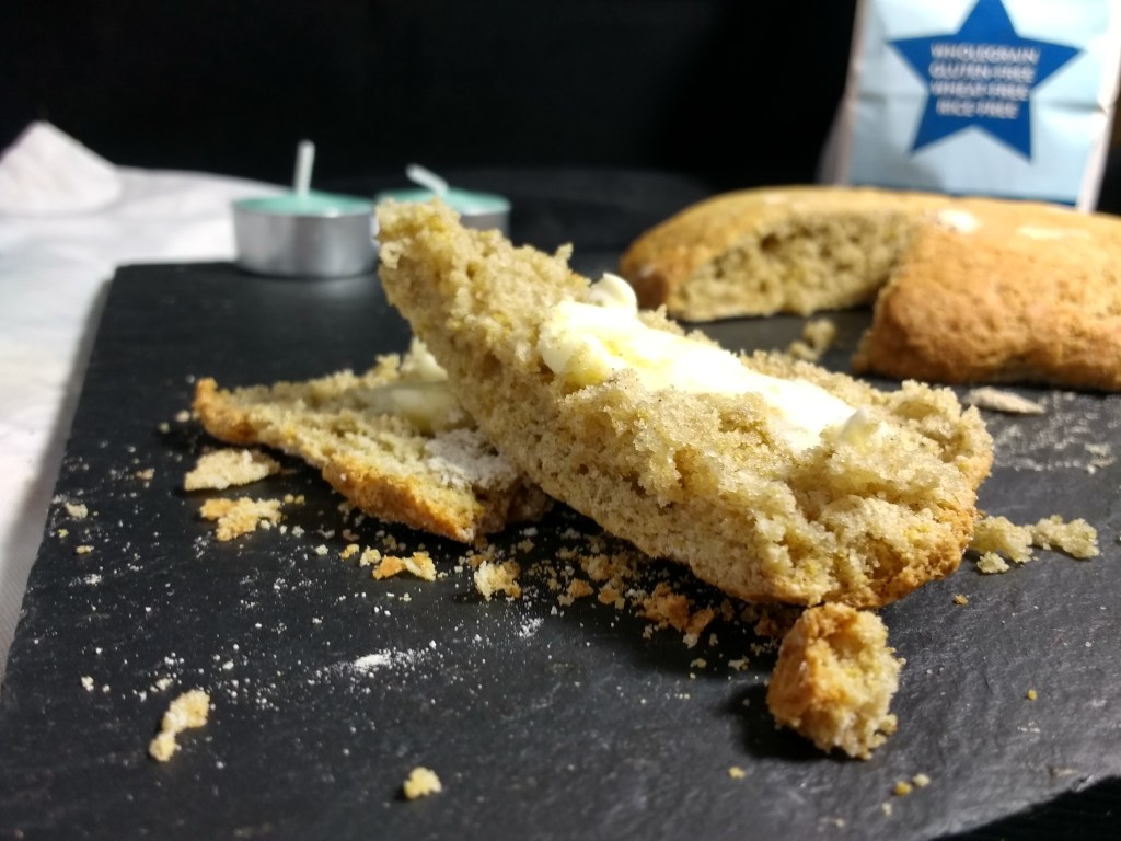 These truly are Easy #Glutenfree #Vegan Scones.Soft & fluffy with a beautiful nutty flavour from the ricefree, wholegrain flour and simple to make just mix and tip onto a tray! Packed full of nutrients with endless flavour combinations these make a great addition to lunchboxes as well as a quick afternoon treat! #easylunchboxes #wholegrain #ricefree #soyfree #dairyfree