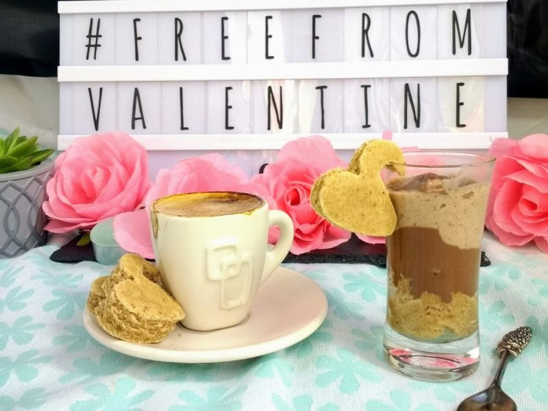 My contribution to #FreeFromValentine is this Creamy Vegan Tiramisu Dessert. Espresso soaked sponge topped with rich, dark chocolate ganache and a light, cocoa infused cream.  Packed full of the traditional flavours you want minus the allergens you don't! (#Top14free #Dairyfree, #Eggfree, #Glutenfree & #Soyfree)