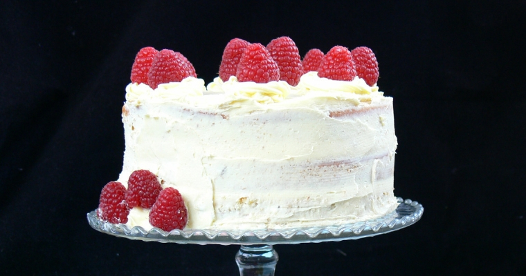 Vegan Lemon & Raspberry Cake (Dairy free, Egg free)