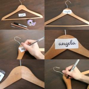 Step by Step DIY Bridesmaid Hangers