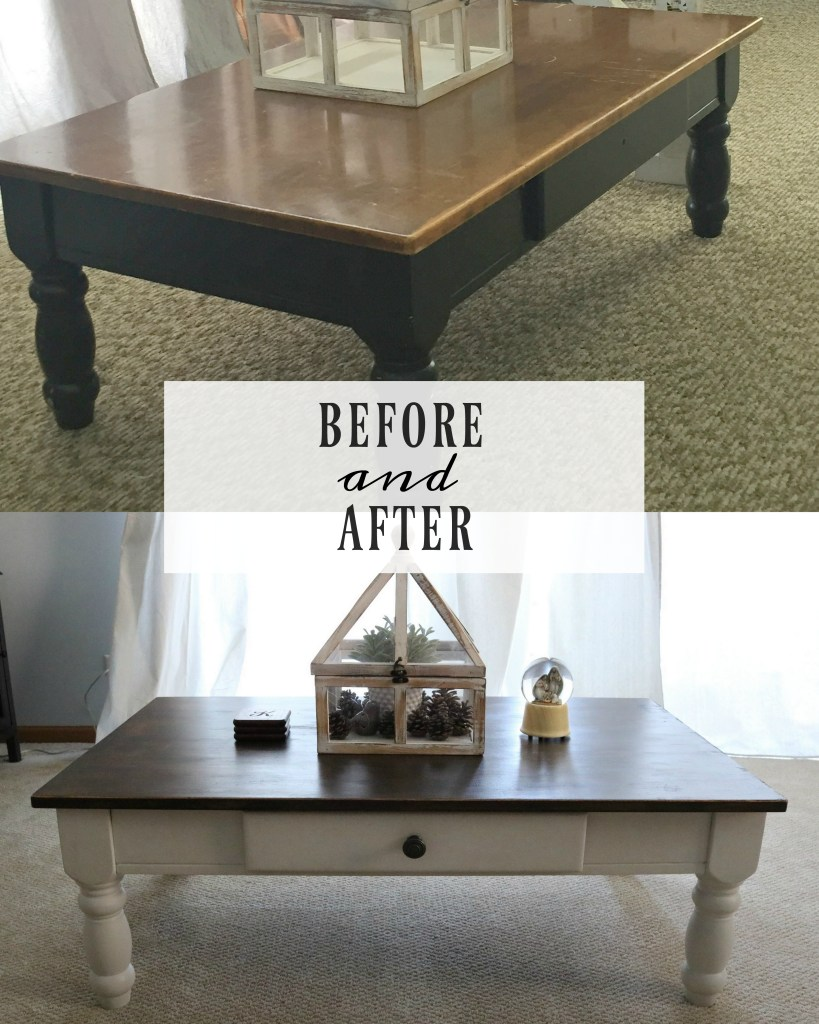 Before & After $5 Coffee Table