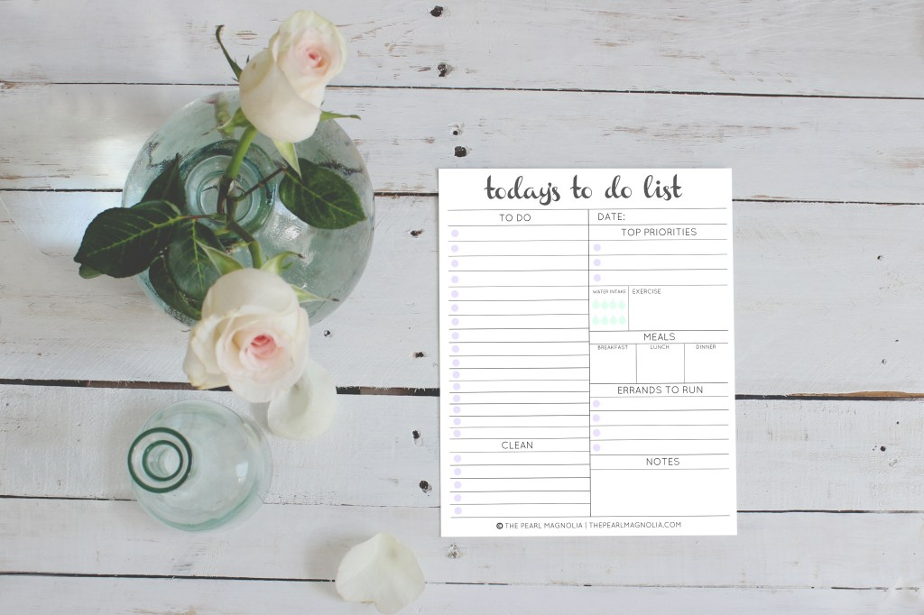 Daily To Do List Free Printable