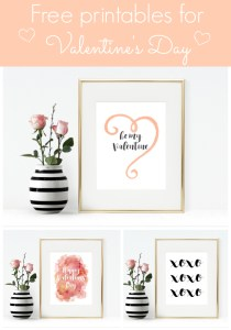 3 Free Valentine Printables