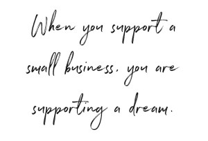 support a dream