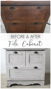 Before & After File Cabinet Makeover