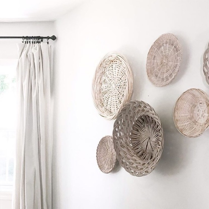 White Washed Basket Wall