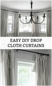 Easy DIY Drop Cloth Curtains
