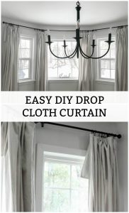 Easy DIY Drop Cloth Curtain