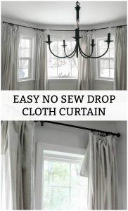 Easy No Sew Drop Cloth Curtain