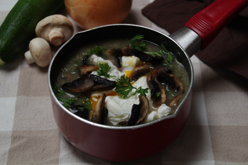 Whole30 Day 8, Mushroom and Zucchini Soup