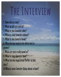 List of Interview Questions for Kids