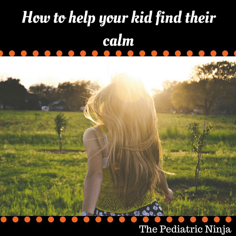 kid walking to find calm