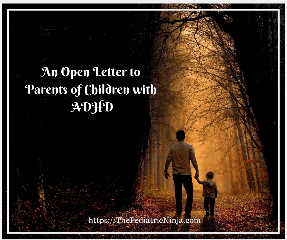 An open letter to parents of children with ADHD