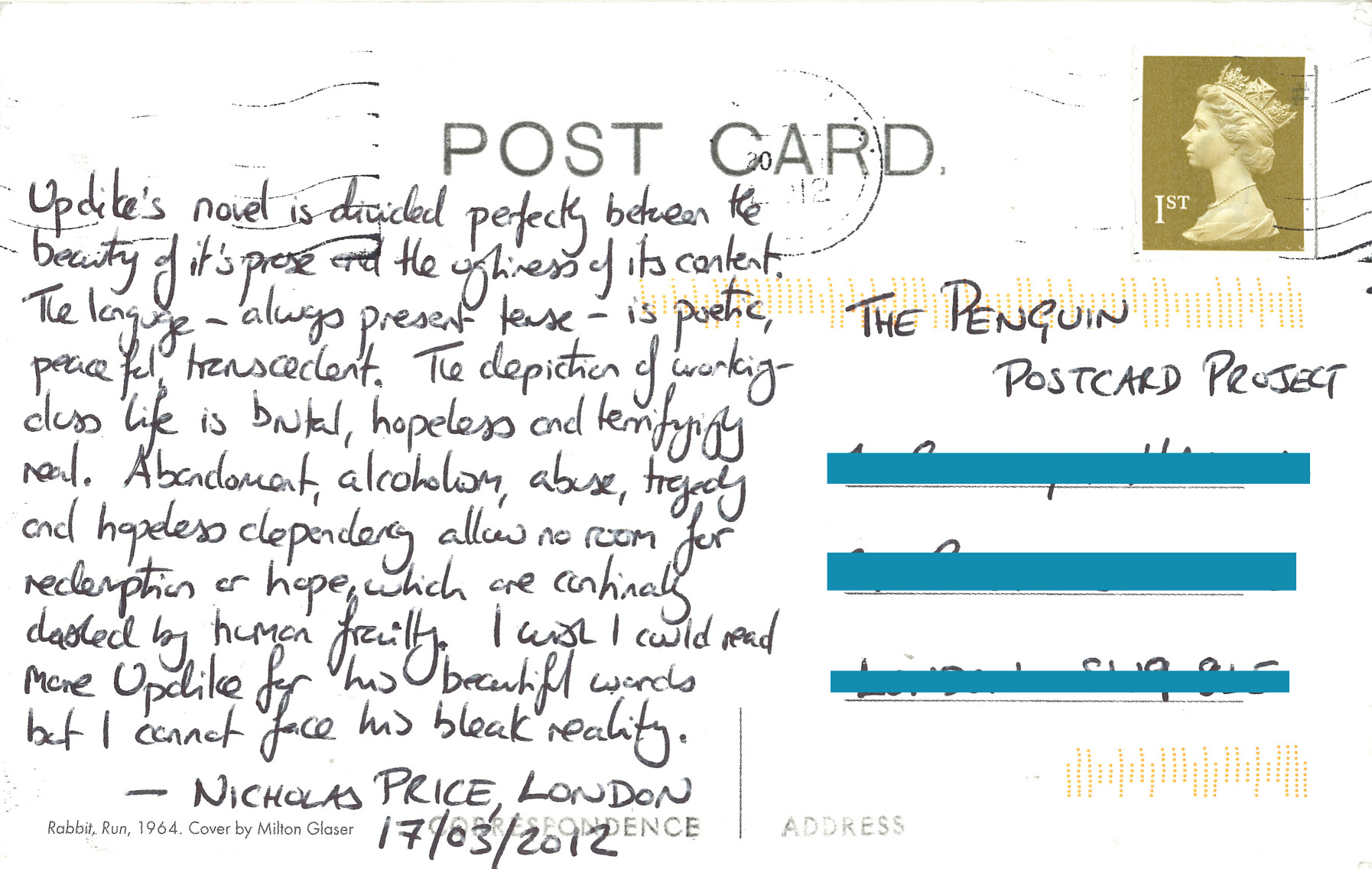 The Penguin Postcard Project