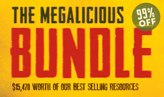 Megalicious Bundle $15,000+ worth of Best Selling Resources (99% off)