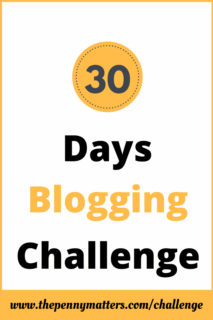 30 Days Blogging Challenge The Penny Matters