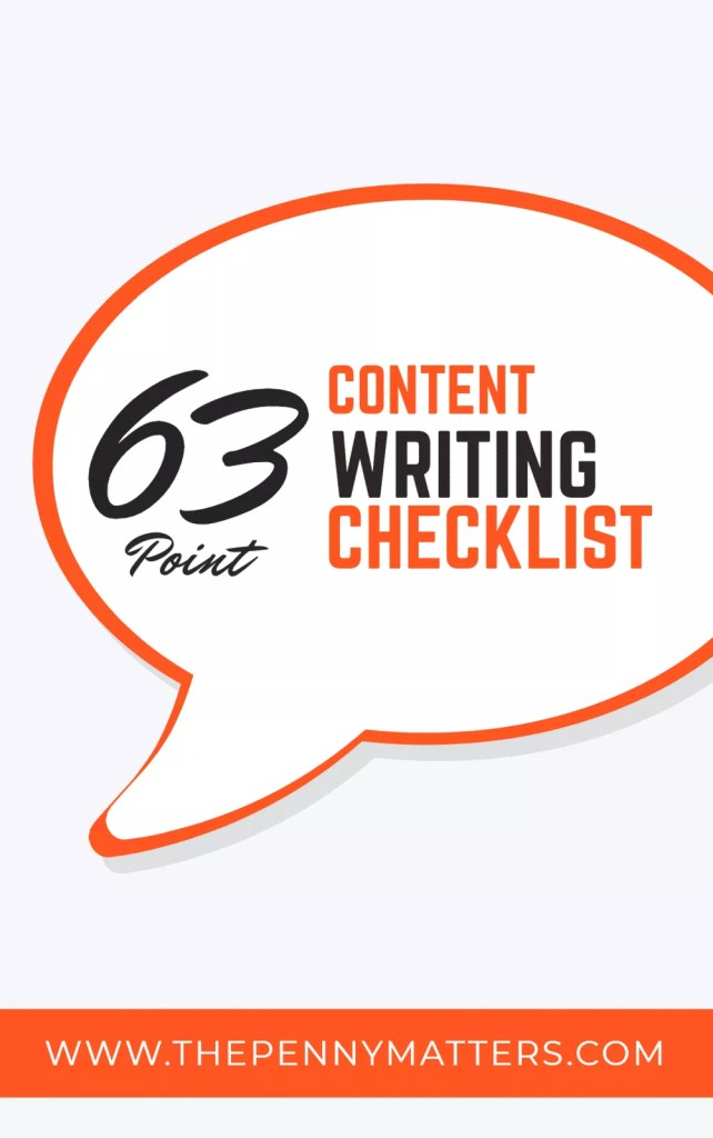 63-Point Content Writing Checklist Cover