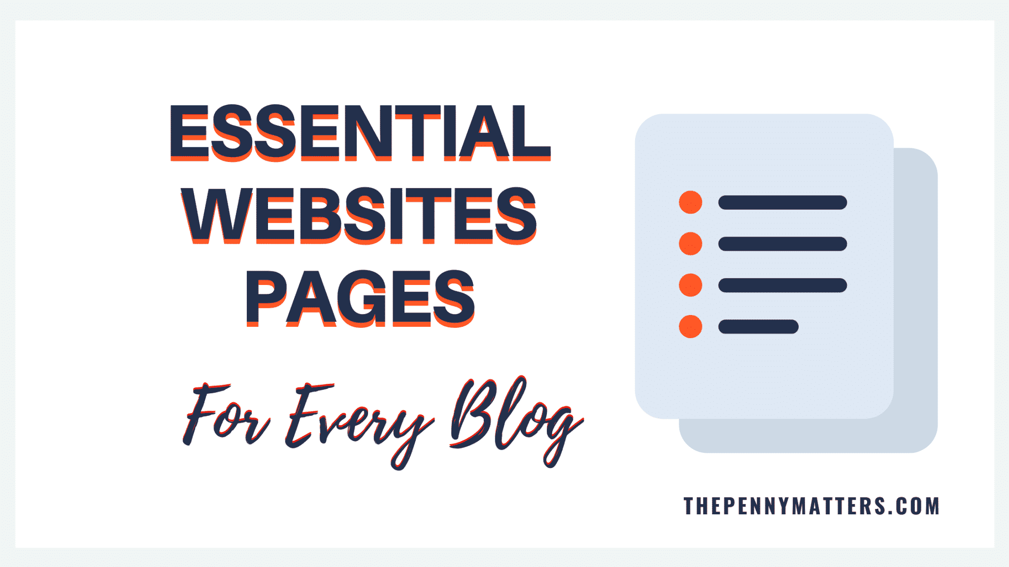 Essential website pages for every blogger