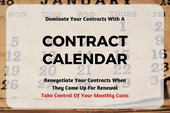 The Contract Calendar - Organize Your Contract Renewals to Save Money