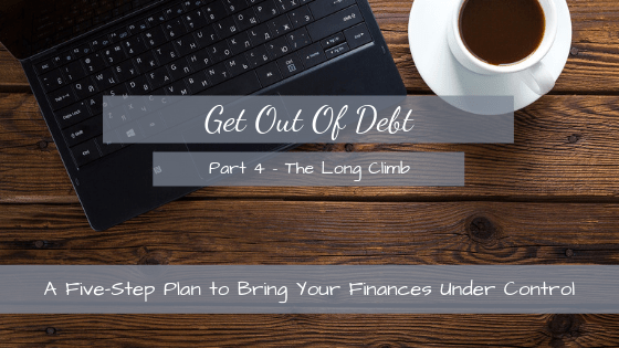 Step 4 of the five-step plan to being debt-free. Pushing all your spare cash into your debts to make them go away.