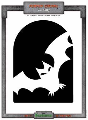 frankenweenie bat stencil
