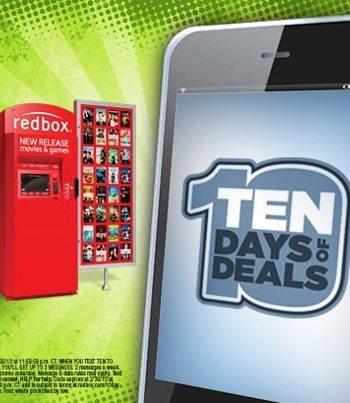 redbox 10 days of deals