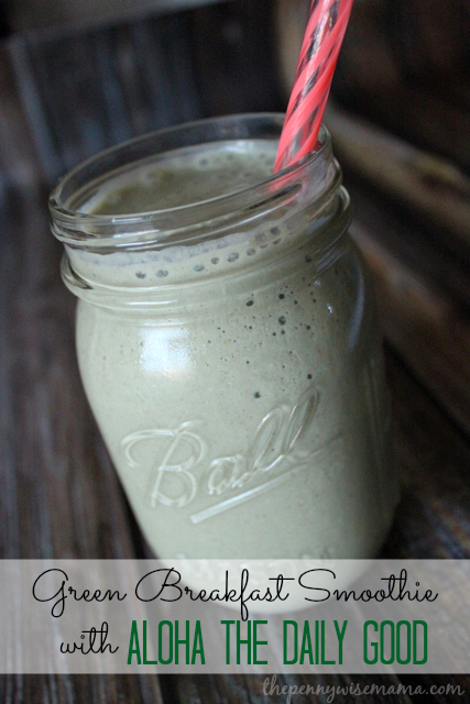 Green Breakfast Smoothie with The Daily Good