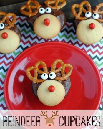 Adorable Reindeer Cupcakes