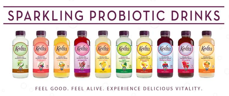 KeVita Sparkling Probiotic Drinks