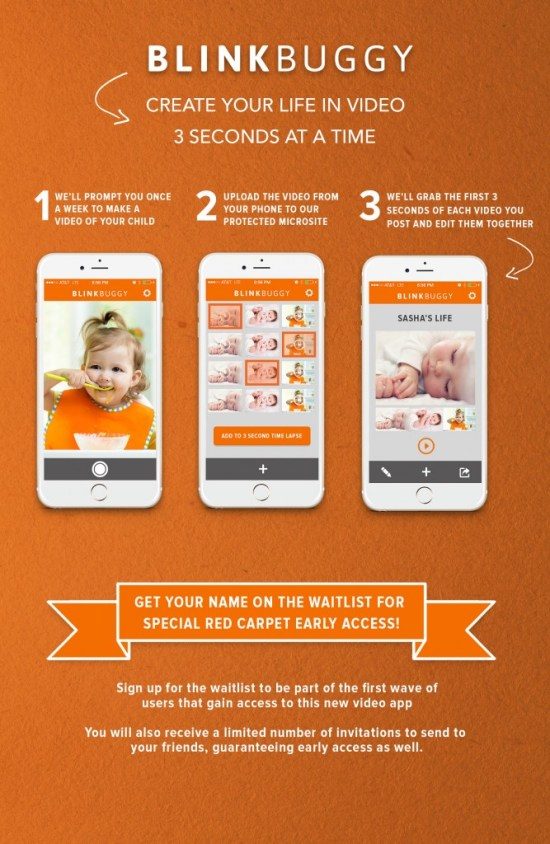 Create a time lapse video of your child with the Blinkbuggy App