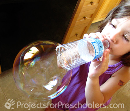 Make a Bubble Blower out of a Plastic Water Bottle