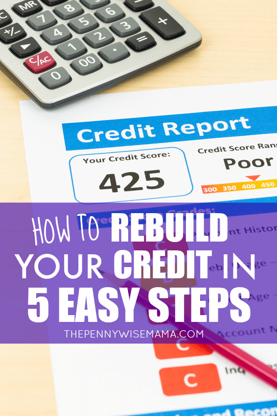 How to Rebuild Your Credit in 5 Easy Steps