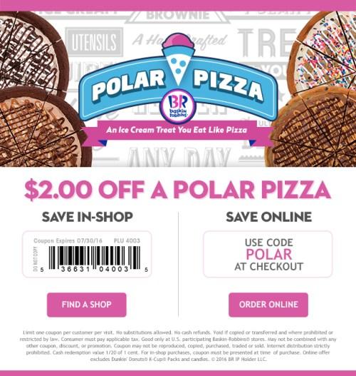 Baskin-Robbins Polar Pizza Coupon