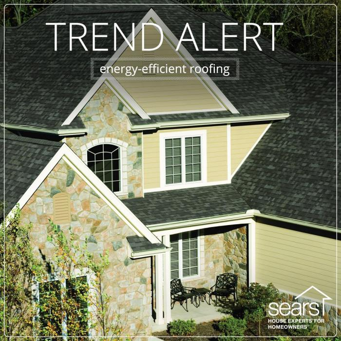 Energy-Efficient Roofing from Sears Home Improvement