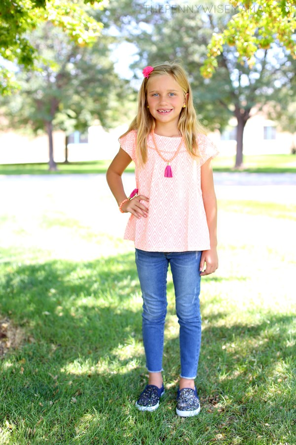 Crazy 8 Neon Geo Top & Distressed Skinny Jeans