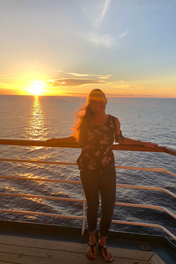 Sunset on Carnival Cruise