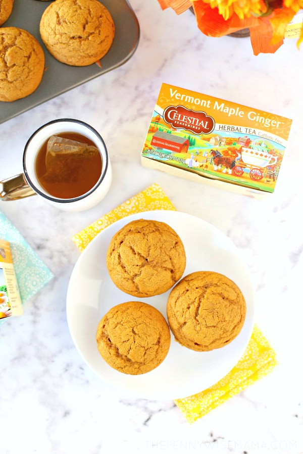 Flavors of Fall: The BEST Pumpkin Muffins + Vermont Maple Ginger Tea