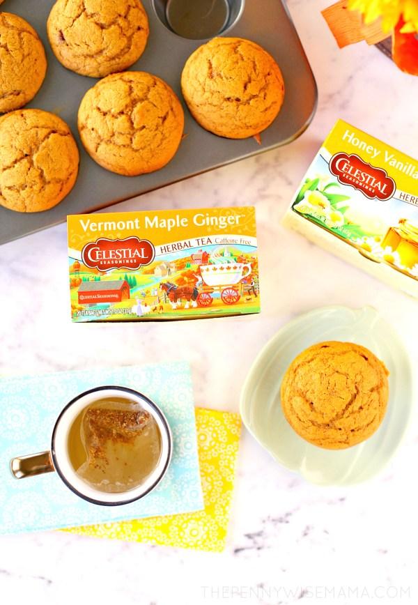 Fall Tea Break with Celestial Seasonings + Easy Pumpkin Muffin Recipe