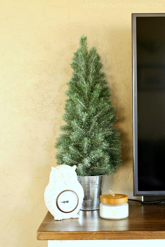Iced Mini Pine Artificial Christmas Tree