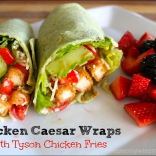 Chicken Caesar Wraps with Tyson Chicken Fries