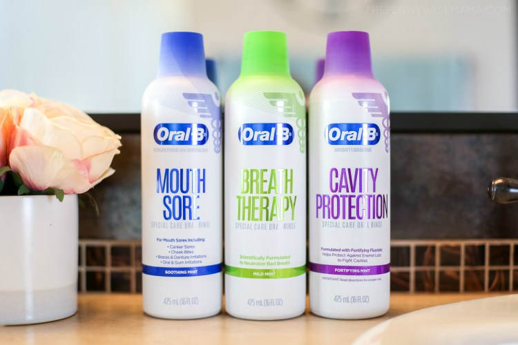 New Oral-B Special Care Oral Rinses