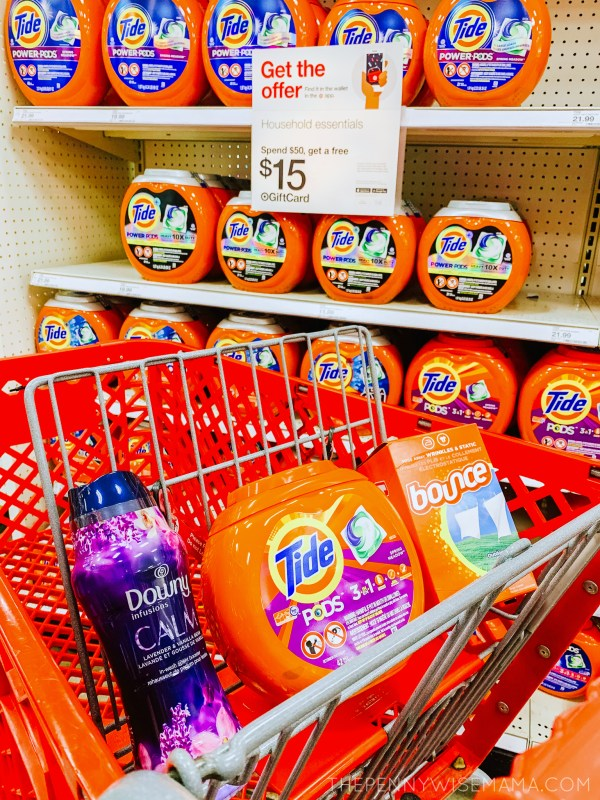 Save on P&G fabric care & get a $15 Target Gift Card