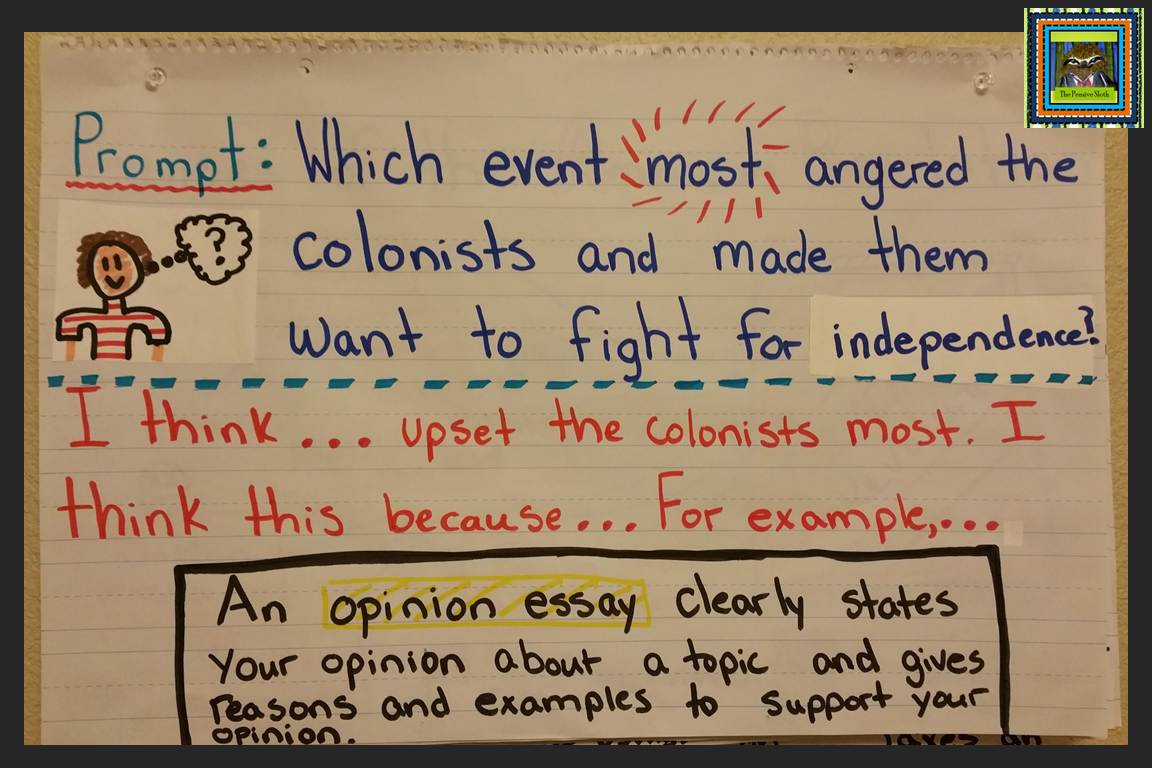 Opinion Writing About The Causes Of The American